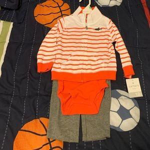 Carter's Boys 3 Piece Hoodie, Onesie & Pant Set
